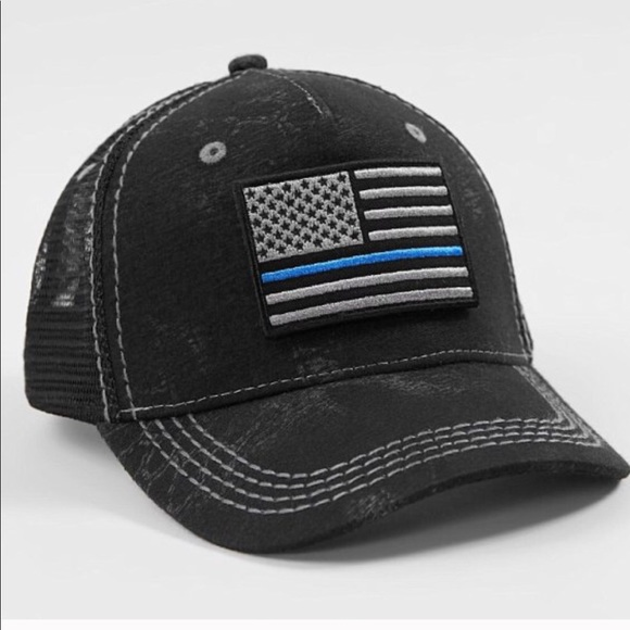 f29b51d8 Affliction Accessories | A4 Police Trucker Hat | Poshmark